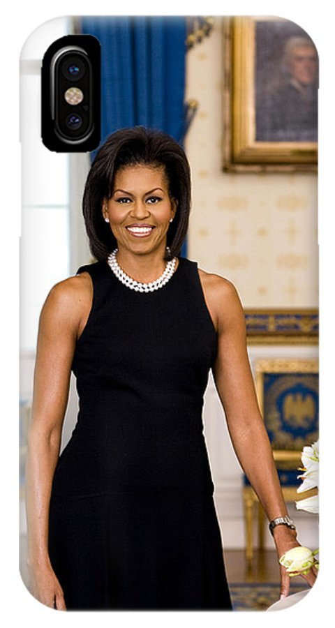 Admiral IPhone X Case featuring the digital art Michelle Obama by Official White House Photo