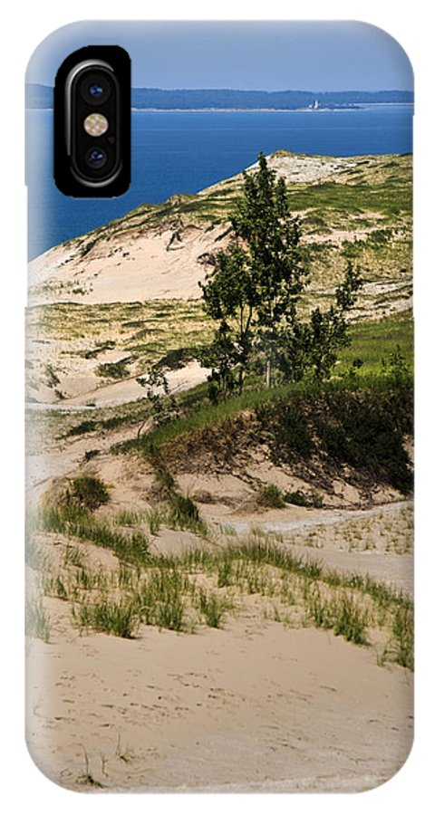 Michigan IPhone X Case featuring the photograph Michigan Sleeping Bear Dunes by Christina Rollo