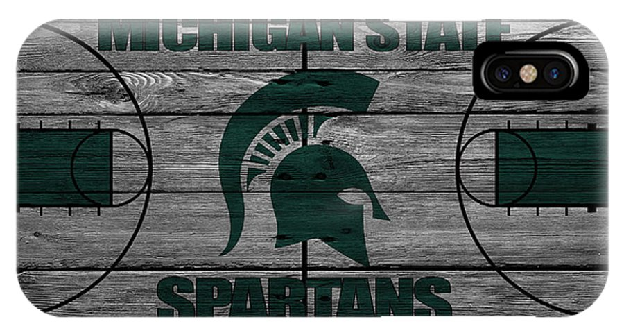 Spartans IPhone X Case featuring the photograph Michigan State Spartans by Joe Hamilton