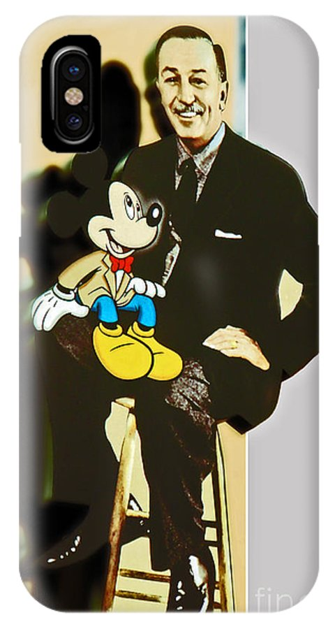 Walt IPhone X Case featuring the photograph Mickey And Walt by Kevin Fortier