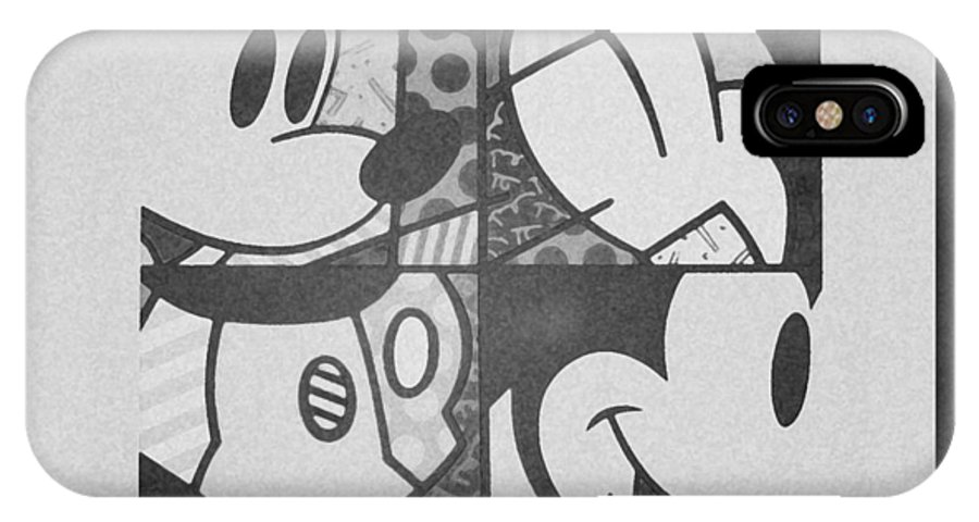 Mickey Mouse IPhone X / XS Case featuring the photograph Mickey In Black And White by Rob Hans