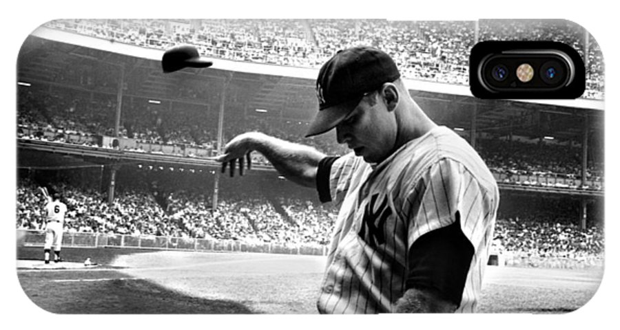 Mickey IPhone X Case featuring the photograph Mickey Mantle by Gianfranco Weiss