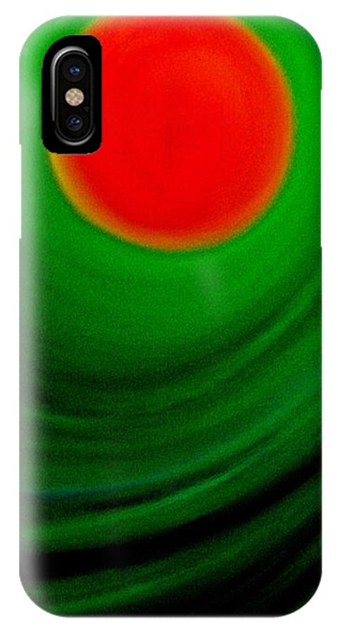 Landscape IPhone X Case featuring the painting Middle Earth by Frank B Shaner