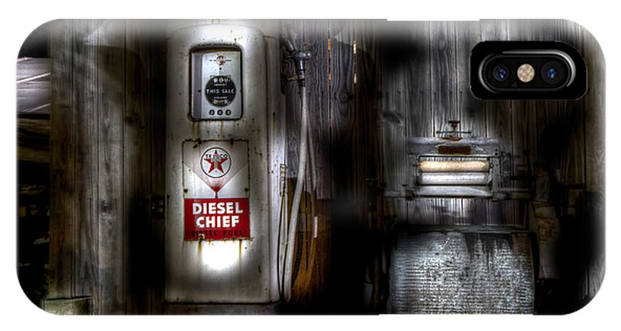 Diesel Chief IPhone X Case featuring the photograph Midnight Oil by Mark Andrew Thomas