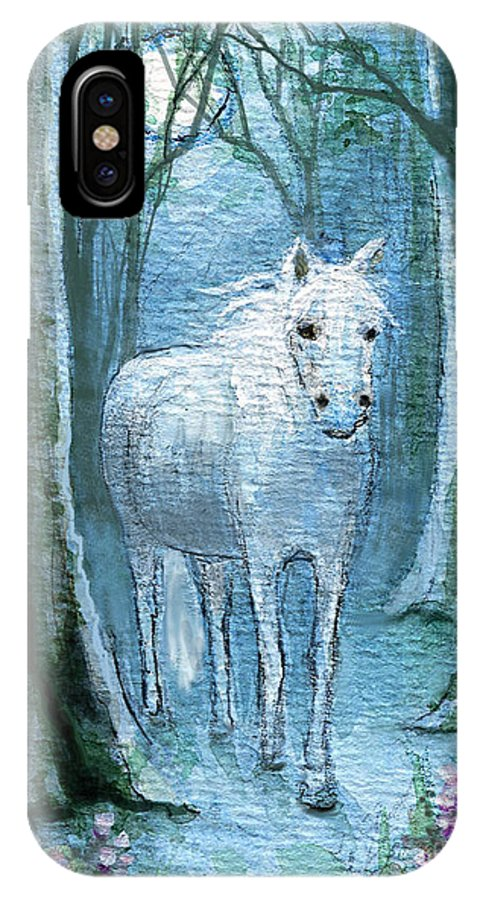 Horses IPhone X Case featuring the painting Midsummer Dream by Terry Webb Harshman