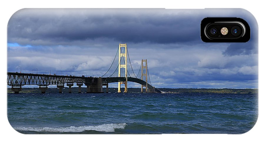 Mighty Mack Bridge IPhone X Case featuring the photograph Mighty Mack Bridge by Rachel Cohen