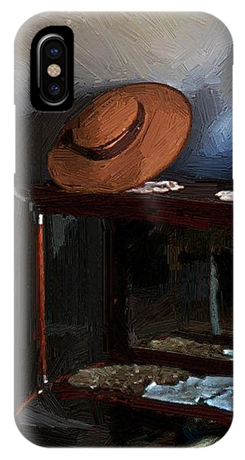 Fashion IPhone X Case featuring the painting Milady's Finery by RC DeWinter