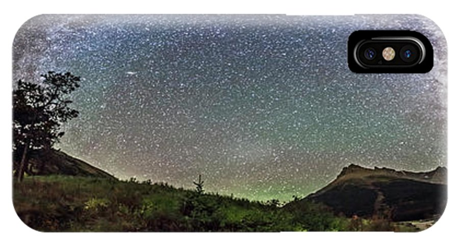 360� IPhone X Case featuring the photograph Milky Way Over Red Rock Canyon by Alan Dyer