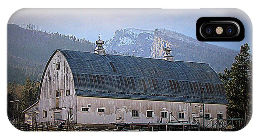 Barn IPhone X Case featuring the photograph Mill Creek Barn by John Cole