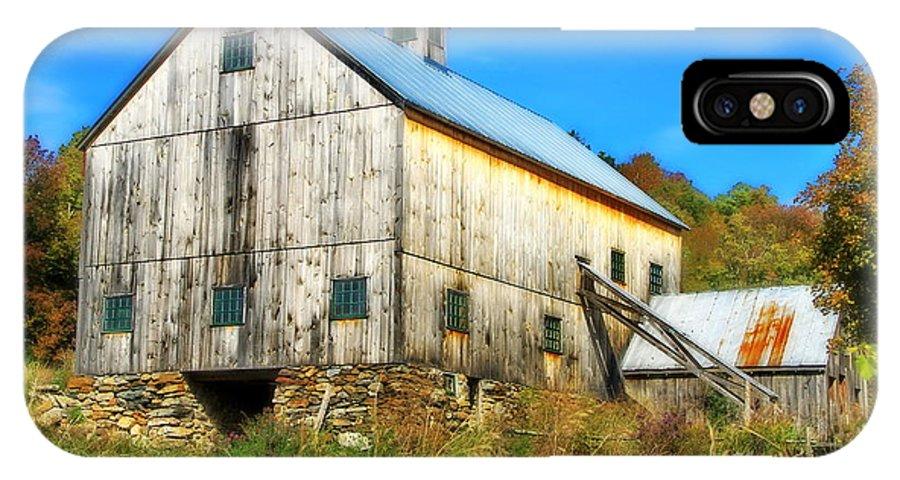 Barn IPhone X Case featuring the photograph Milton Barn In Orton by Deborah Benoit