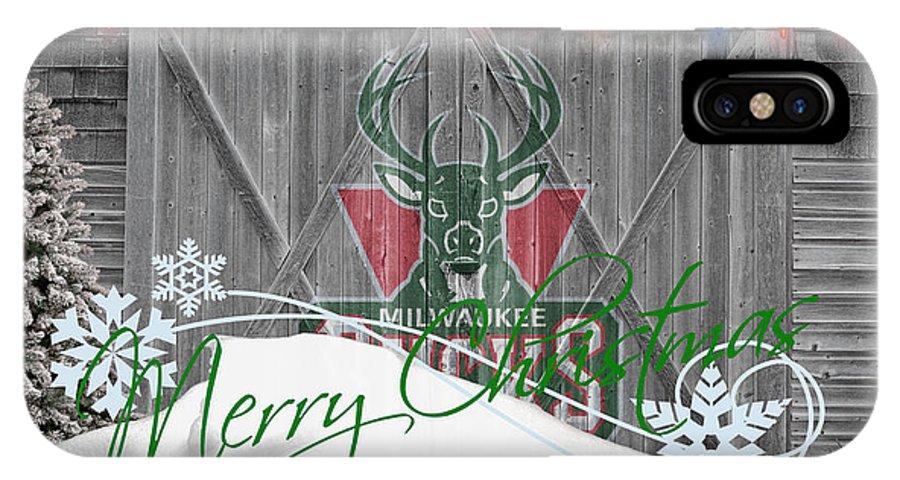 Bucks IPhone X Case featuring the photograph Milwaukee Bucks by Joe Hamilton