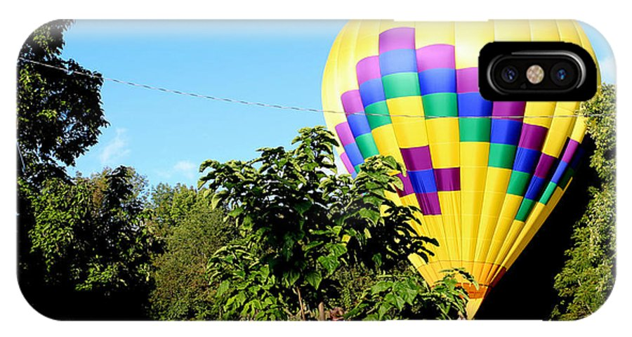 Balloon IPhone X Case featuring the photograph Mind If I Land In Your Backyard 1 by George Jones