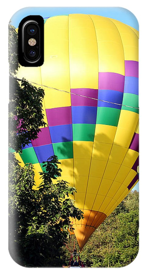 Balloon IPhone X Case featuring the photograph Mind If I Land In Your Backyard 2 by George Jones