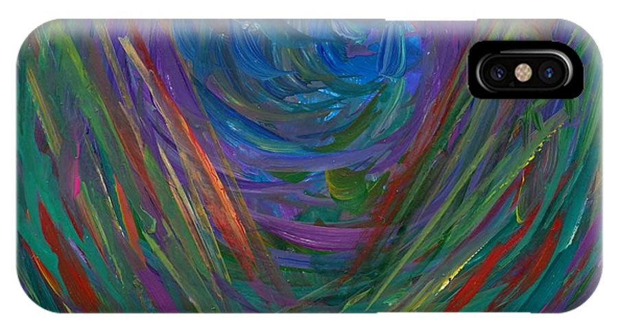 Center Of My Mind IPhone X Case featuring the painting Mind Journey by Kendall Kessler