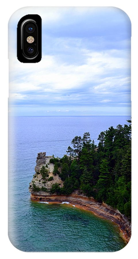 Lakes IPhone X Case featuring the photograph Miner's Castle by Michelle Calkins