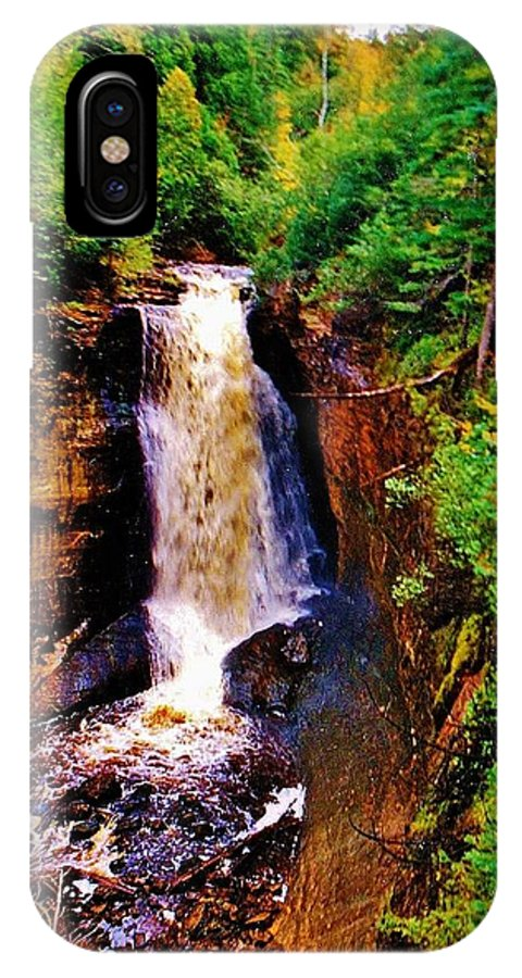 Miners Falls IPhone X Case featuring the photograph Miner's Falls by Daniel Thompson