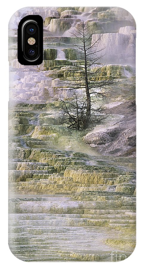 North America IPhone X Case featuring the photograph Minerva Springs Terraces Yellowstone National Park by Dave Welling