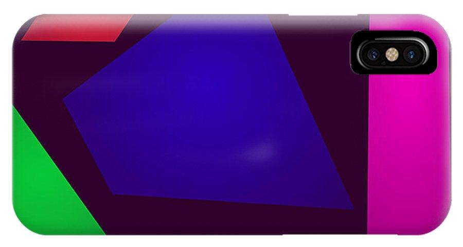 Gradation IPhone X Case featuring the digital art Minimalism Slow Fall by Masaaki Kimura