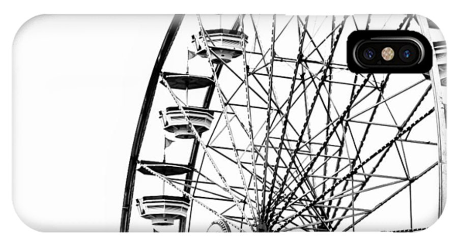 Wheel IPhone X Case featuring the photograph Minimalist Ferris Wheel - Square by Jon Woodhams