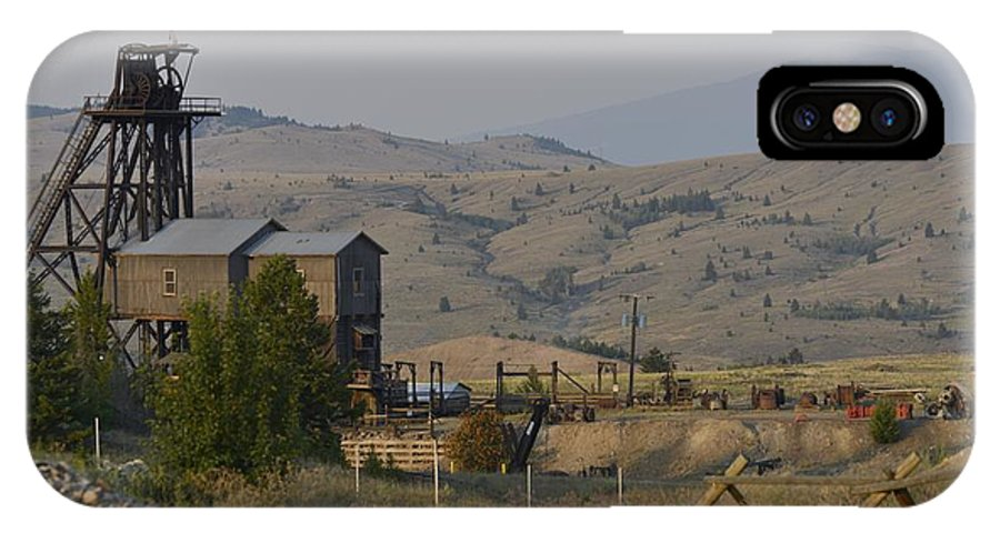 Butte IPhone X Case featuring the photograph Mining In Butte by Image Takers Photography LLC - Carol Haddon