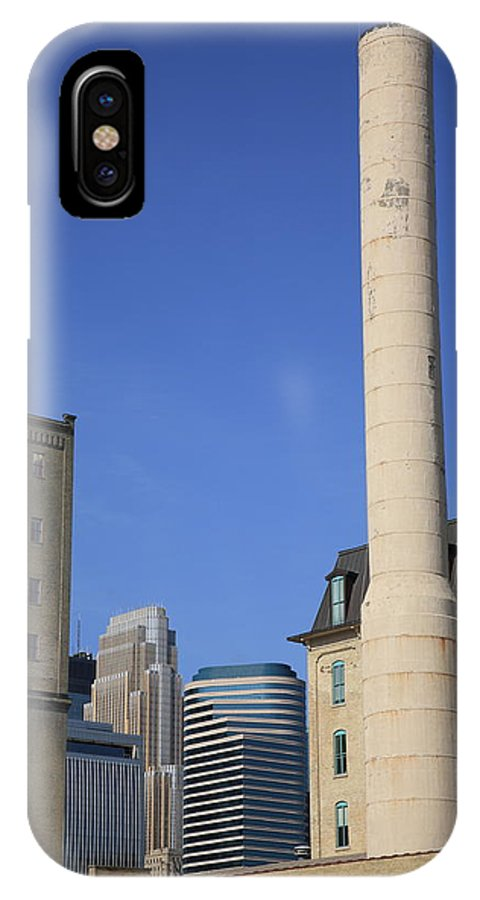 America IPhone X Case featuring the photograph Minneapolis Smokestack by Frank Romeo