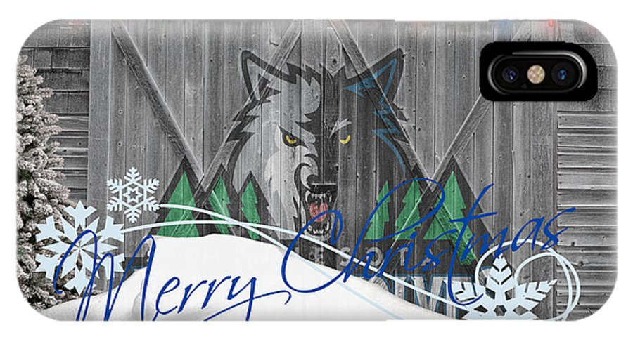 Timberwolves IPhone X Case featuring the photograph Minnesota Timberwolves by Joe Hamilton