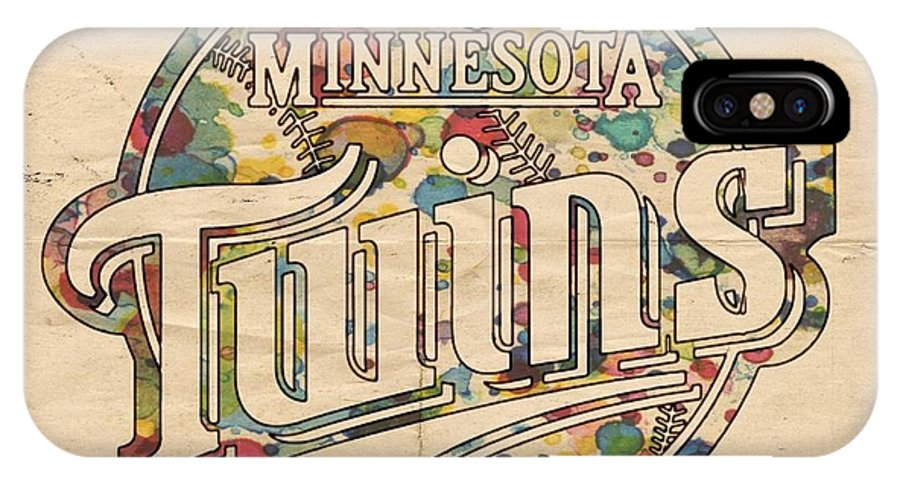 Minnesota Twins IPhone X Case featuring the painting Minnesota Twins Poster Vintage by Florian Rodarte