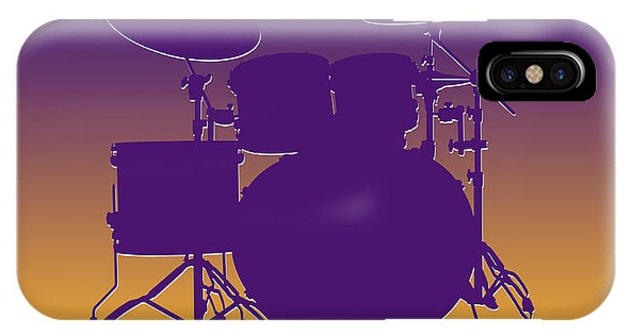 Vikings IPhone X / XS Case featuring the photograph Minnesota Vikings Drum Set by Joe Hamilton