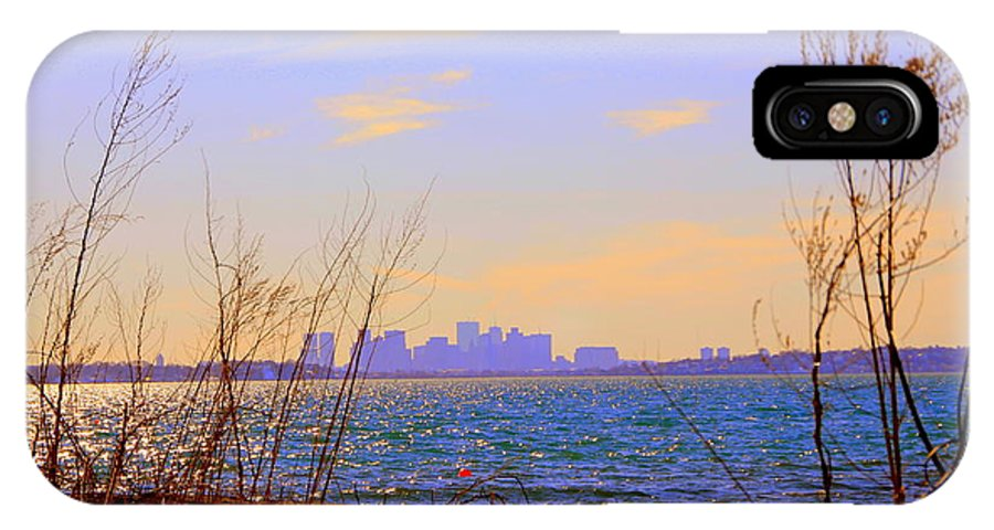 Boston IPhone X Case featuring the photograph Mirage by Lennie Malvone