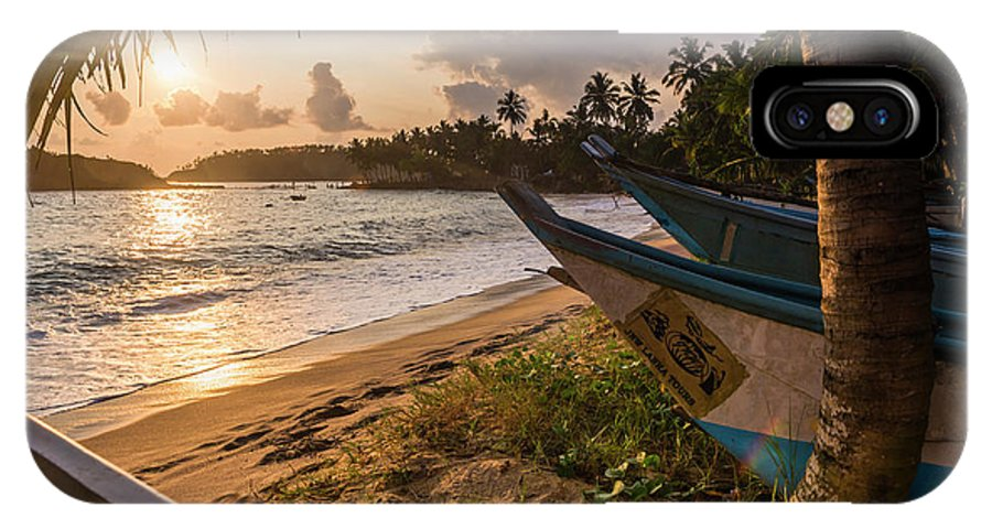 Asia IPhone X Case featuring the photograph Mirissa Beach, Traditional Oruva by Matthew Williams-ellis