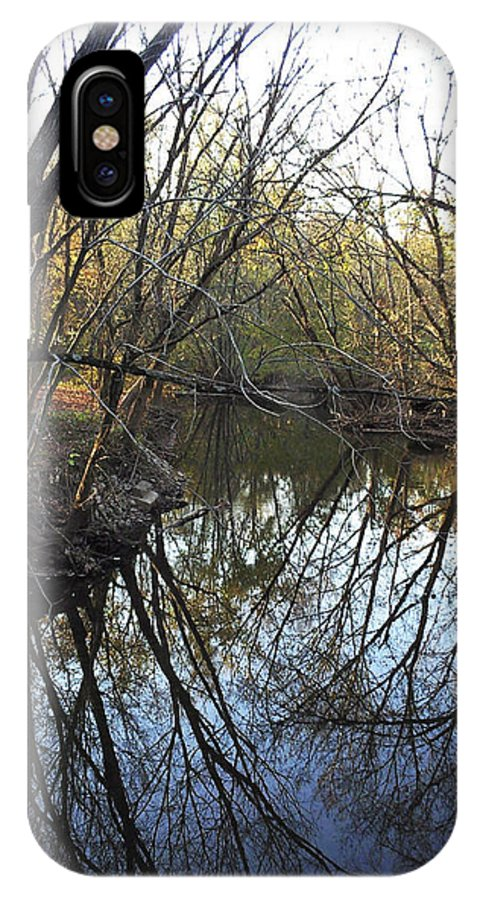 Trees IPhone X Case featuring the photograph Mirror by J Shawn Conrey