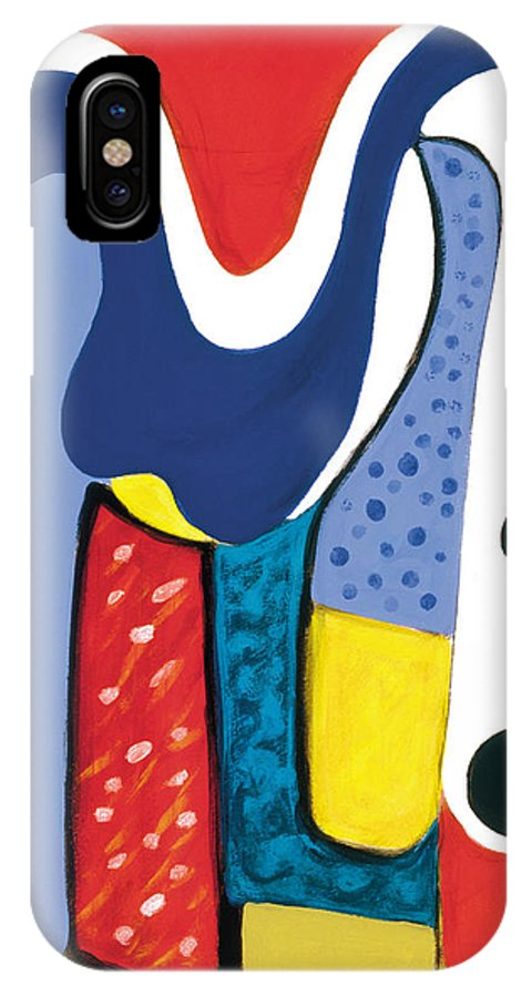 Abstract Art IPhone X Case featuring the painting Mirror Of Me 1 by Stephen Lucas