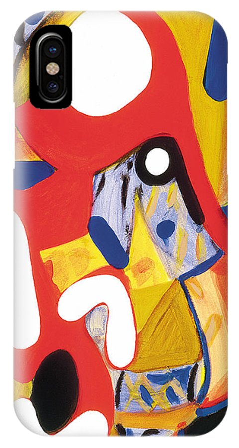 Abstract Art IPhone X Case featuring the painting Mirror Of Me 2 by Stephen Lucas