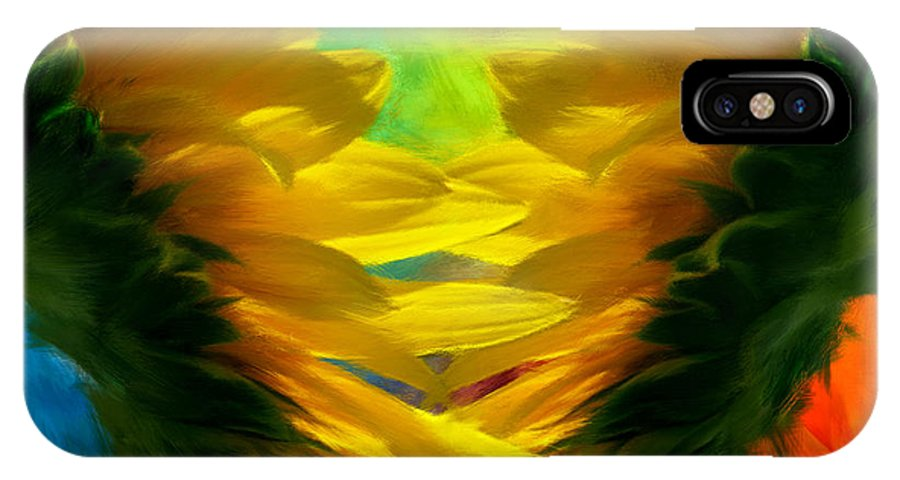 Sunflower IPhone X Case featuring the photograph Mirrorring Suns by Lourry Legarde