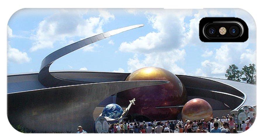 Epcot Centre Theme Park IPhone X Case featuring the photograph Mission Space Pavilion by Lingfai Leung