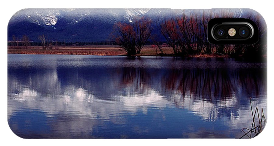 Mission Mountains IPhone X Case featuring the photograph Mission Valley Montana by Thomas R Fletcher