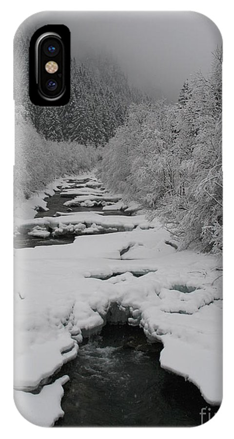 Creek IPhone X Case featuring the photograph Mist Above The Creek by Christiane Schulze Art And Photography