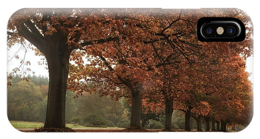 Landscape IPhone X Case featuring the photograph Misty Colours Of Autumn by Shirley Mitchell