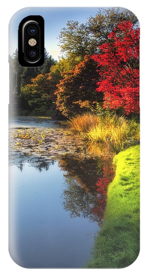 Pool IPhone X Case featuring the photograph Misty Fall by Eti Reid