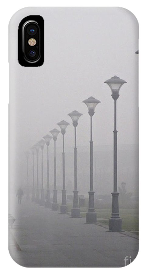 Mist IPhone X Case featuring the photograph Misty Lanterns by Zoran Berdjan