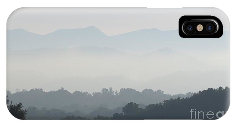 Landscape IPhone X Case featuring the photograph Misty Morning by Anita Adams