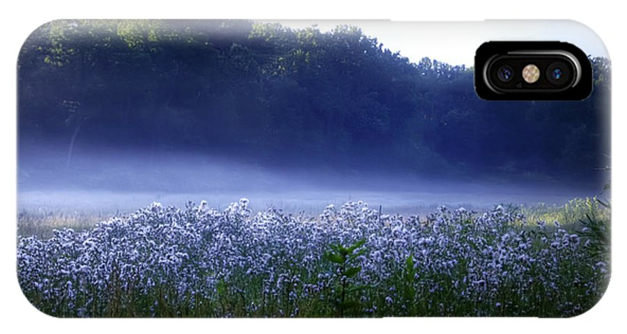 Misty IPhone X Case featuring the photograph Misty Morning At Vally Forge by Bill Cannon