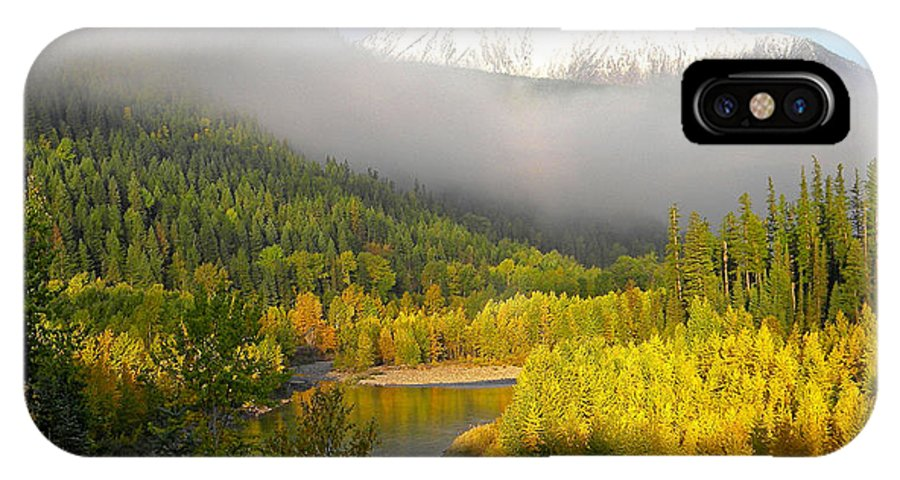 Rivers IPhone X Case featuring the photograph Misty Morning by Scott T Campbell