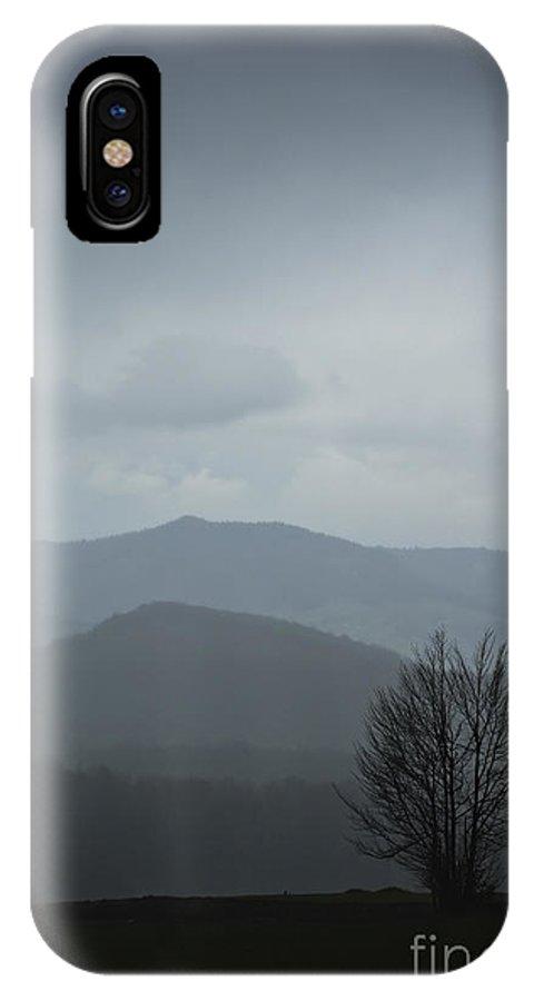 Landscape IPhone X Case featuring the photograph Misty Mountain by Zoran Berdjan