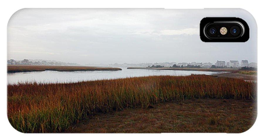 Rivers IPhone X Case featuring the photograph Misty Shores by Deborah Bowie