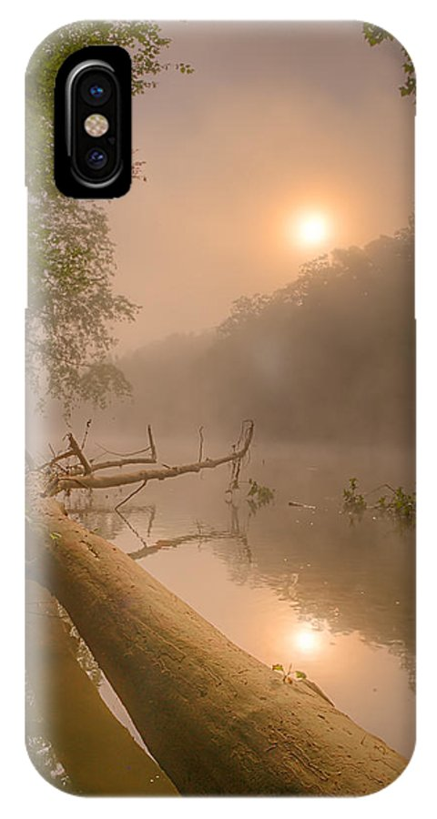 2013 IPhone X Case featuring the photograph Misty Sun by Robert Charity