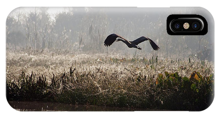 Landscape IPhone X Case featuring the photograph Misty Takeoff by Bridget Magee Photography