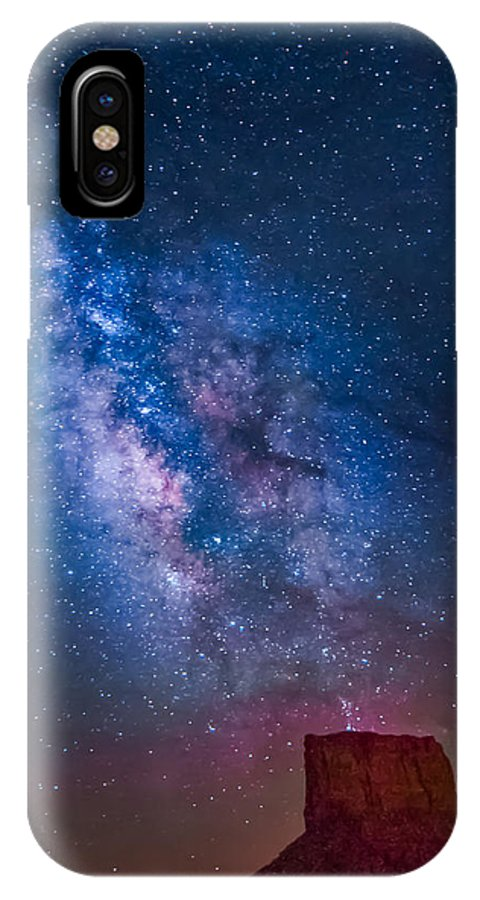 Milky Way IPhone X Case featuring the photograph Mitchell Butte Milky Way by Joe Kopp