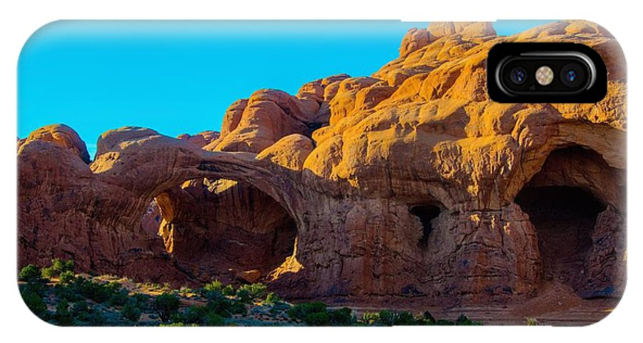 Moab IPhone X / XS Case featuring the photograph Moab Arches Twist by Gerald Blaine