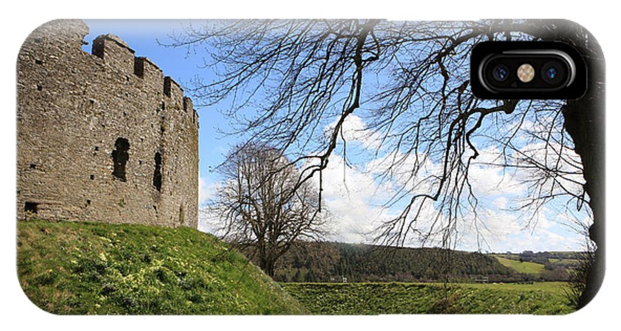 Pretty IPhone X Case featuring the photograph Moated Castle by Paul Felix